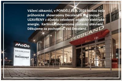 Pondělní uzavírka průhonických showroomů