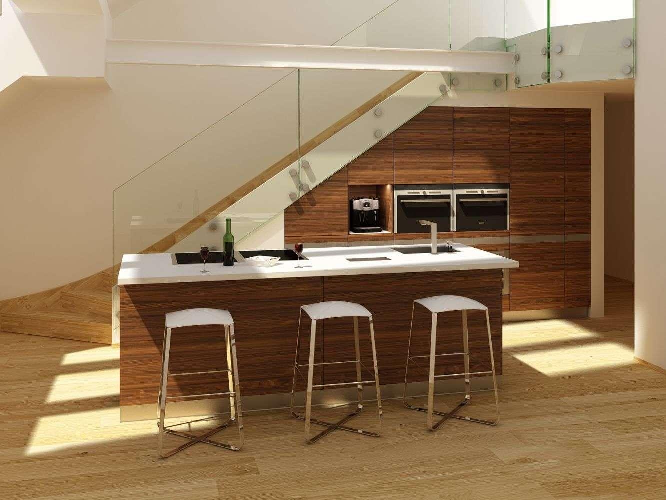 Luxusní kuchyně pod schody Team 7
