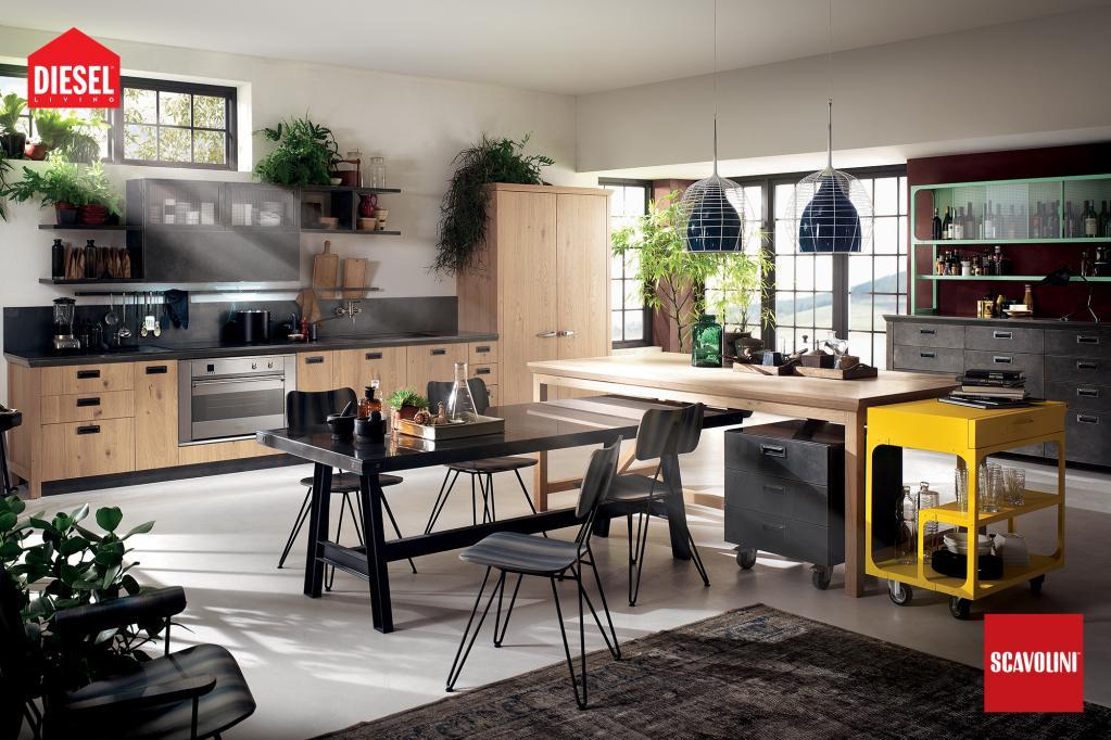 Kuchyňská linka Scavolini - Diesel | Luxusní kuchyně z Decolandu