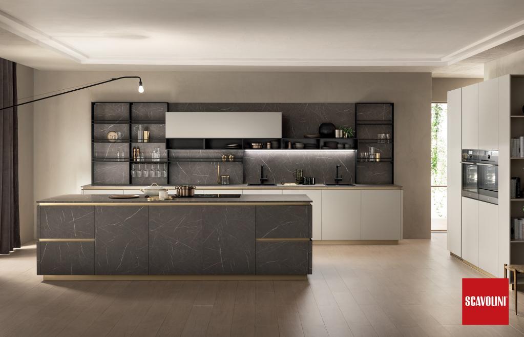 Kuchyňská linka Scavolini - Delinea| Kuchyňské studio Decoland