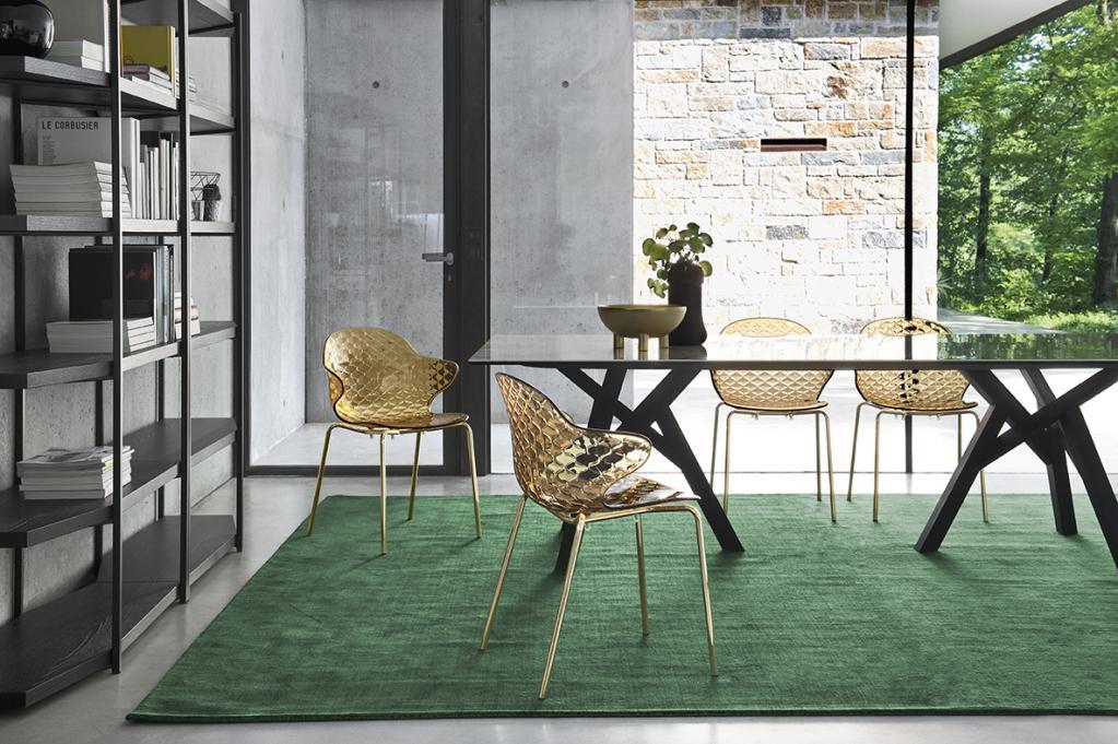 Luxusní skleněné židle Calligaris