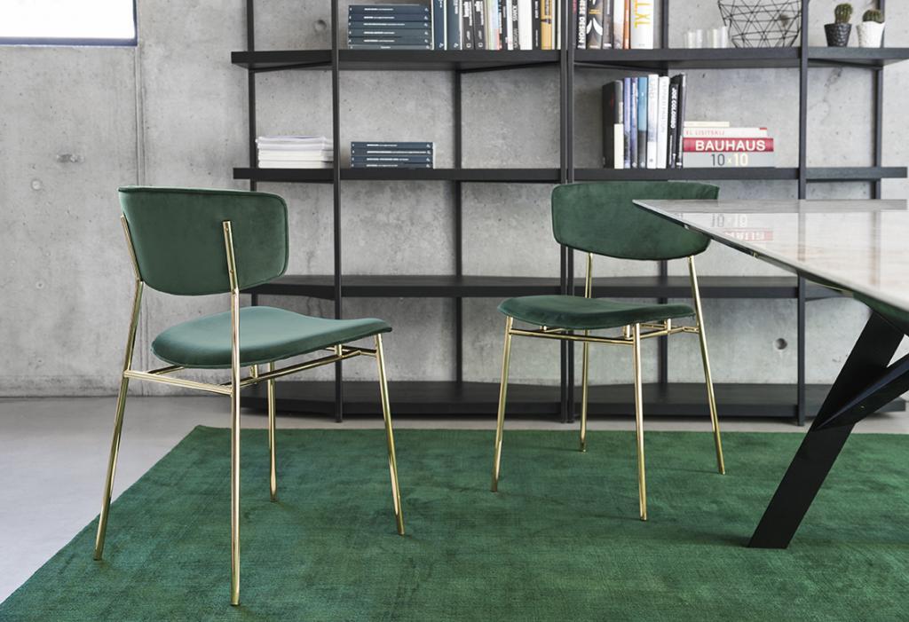 Zelené židle Calligaris