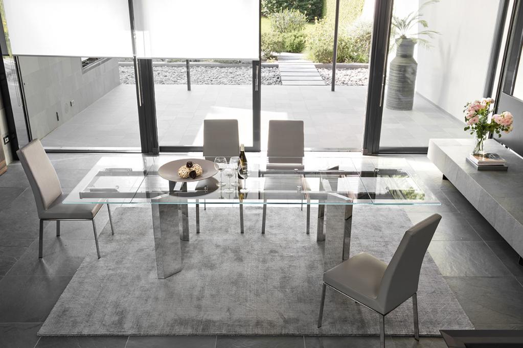 Prosklený stůl Calligaris