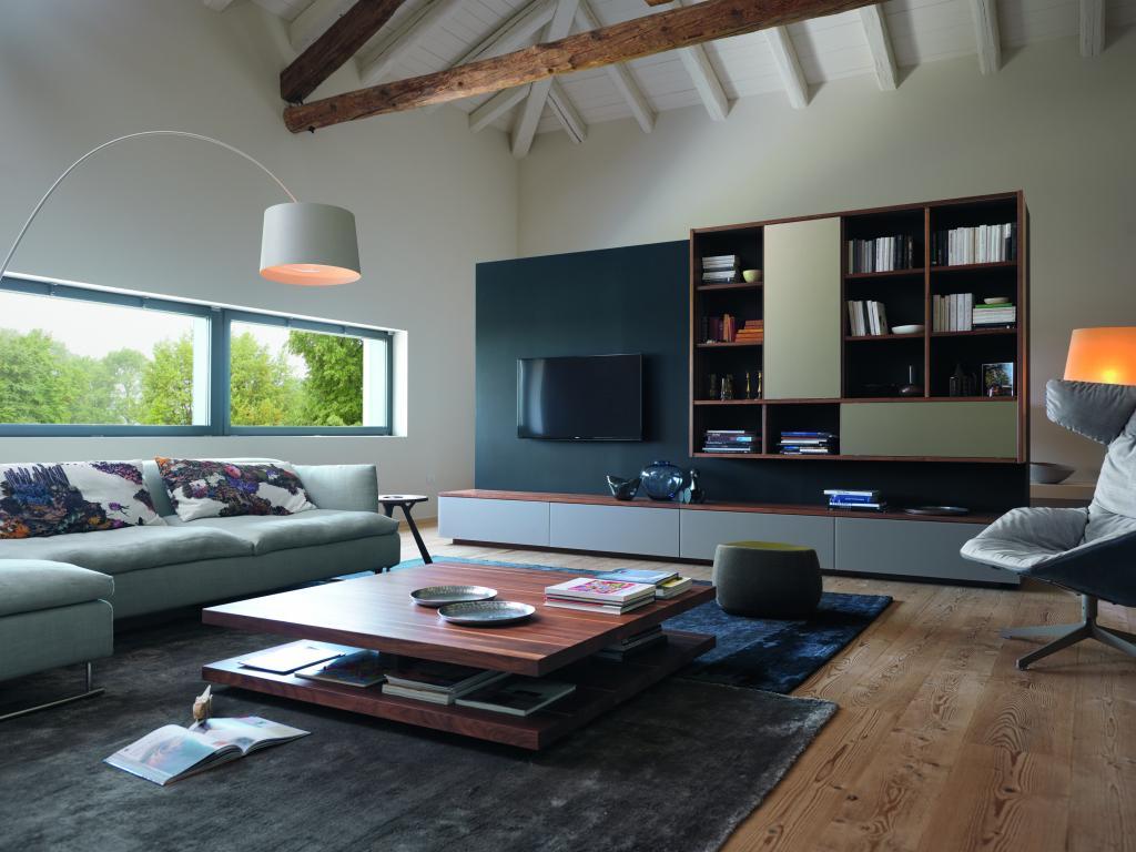 Moderní obývací stěna Team 7