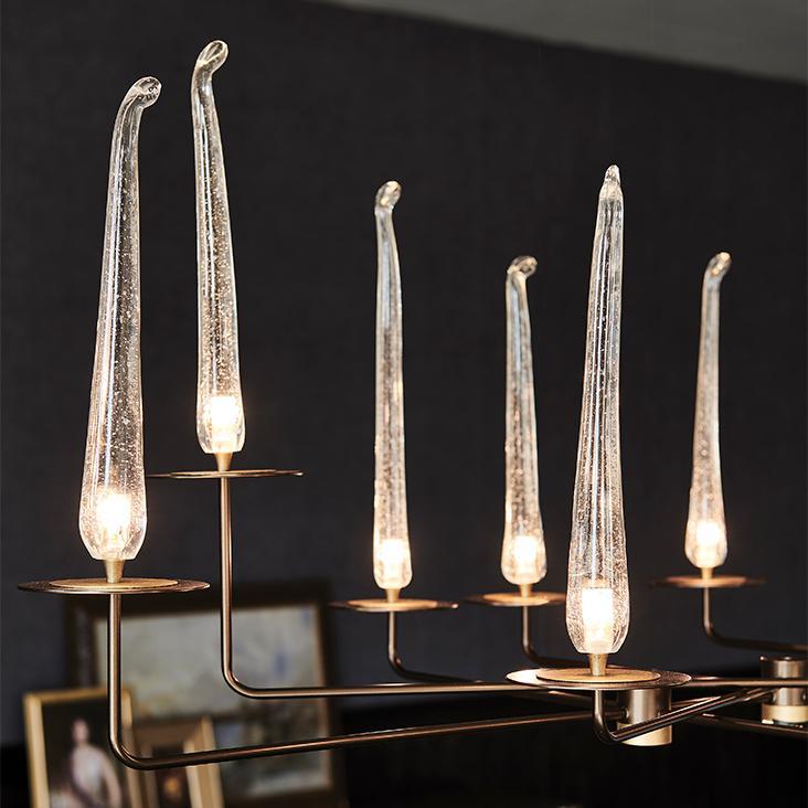 Interiérové osvětlení - tvar svíček