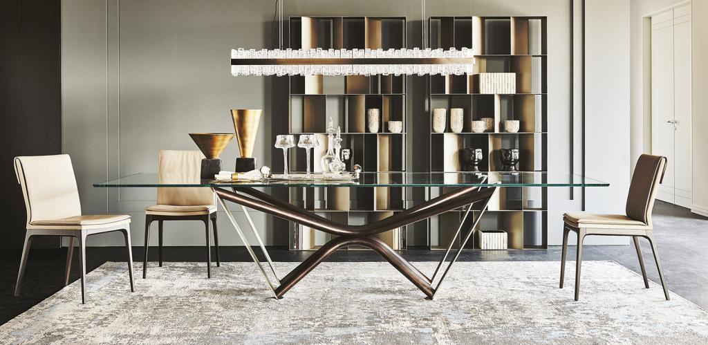 Skleněný stůl Cattelan Italia