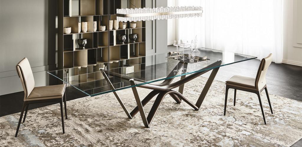 Židle Cattelan Italia a skleněný stůl