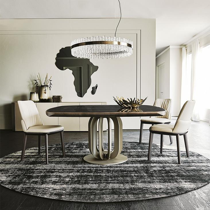 Stůl a pohodlné židle Cattelan Italia