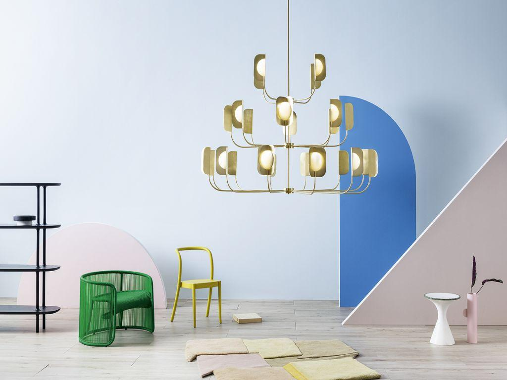Osvětlení Leaf od MM Lampadari https://www.mmlampadari.com/en/products/contemporary-style/chandeliers/leaf/