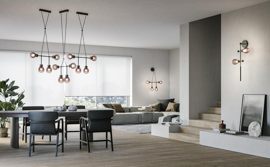 Stropní závěsné svítidlo ZOE od  MM Lampadari https://www.mmlampadari.com/en/products/contemporary-style/chandeliers/zoe/