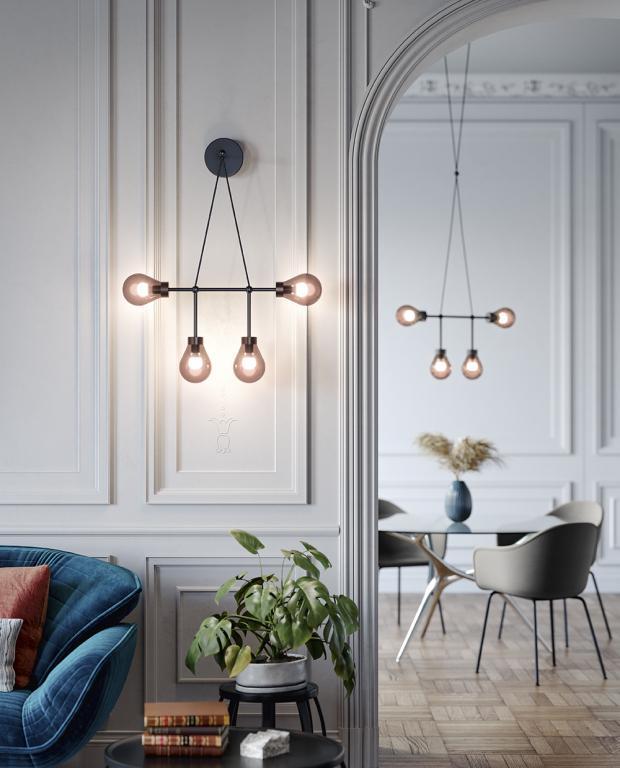 Osvětlení  ZOE od MM Lampadari https://www.mmlampadari.com/en/products/contemporary-style/chandeliers/zoe/