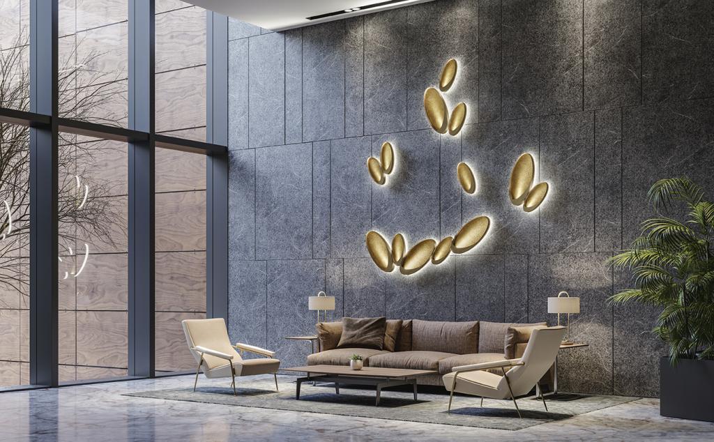 Osvětlení Petal od MM Lampadari https://www.mmlampadari.com/en/products/contemporary-style/wall-lamps/petal/