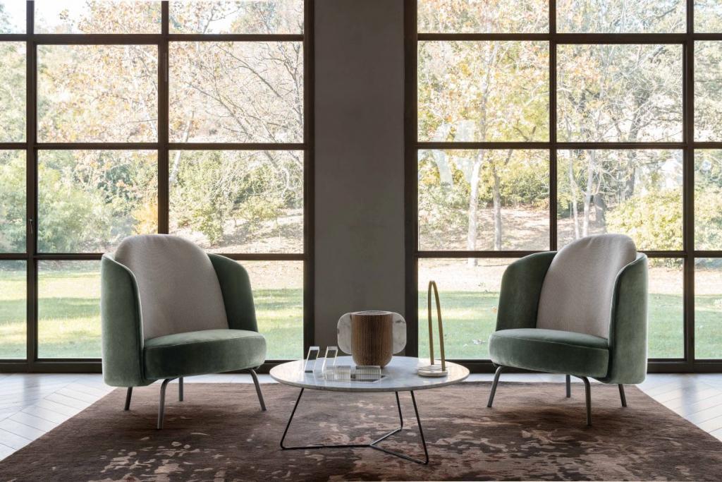 Křesla Lucia od Ditre Italia https://www.ditreitalia.com/en/products/armchairs/lucia