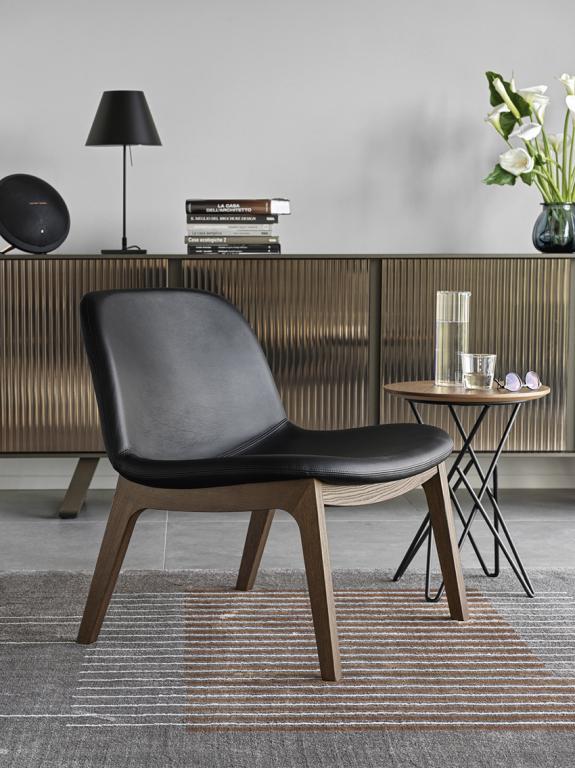 Černá židle Calligaris
